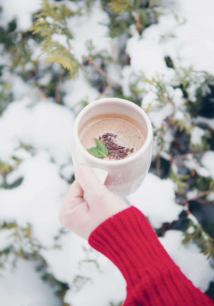 Chocolat chaud « After Eight » (au chocolat noir & à la menthe)