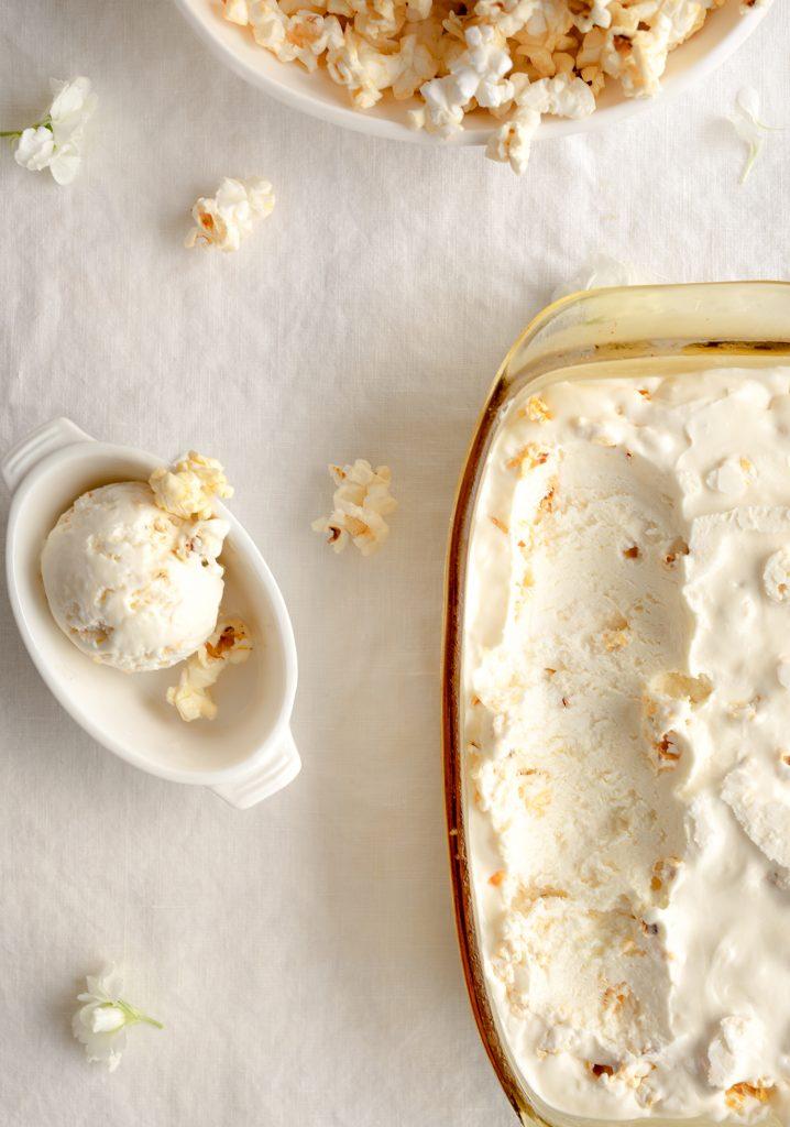 Crème glacée facile au pop-corn