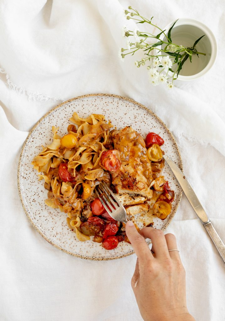 Poulet & tomates cerises à la crème