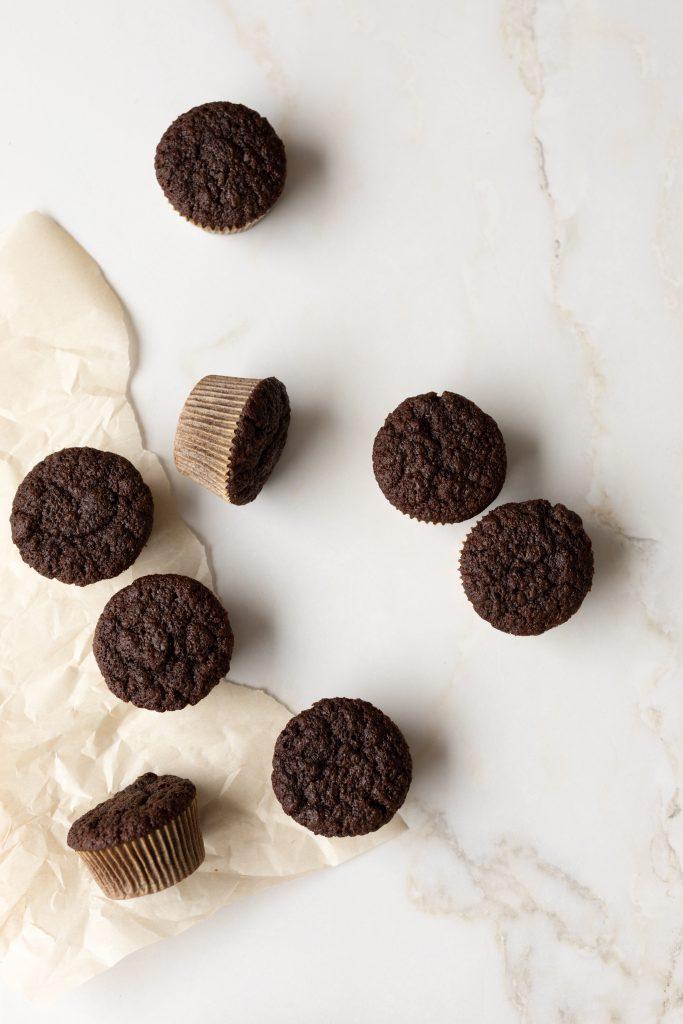 Cupcakes de base au chocolat