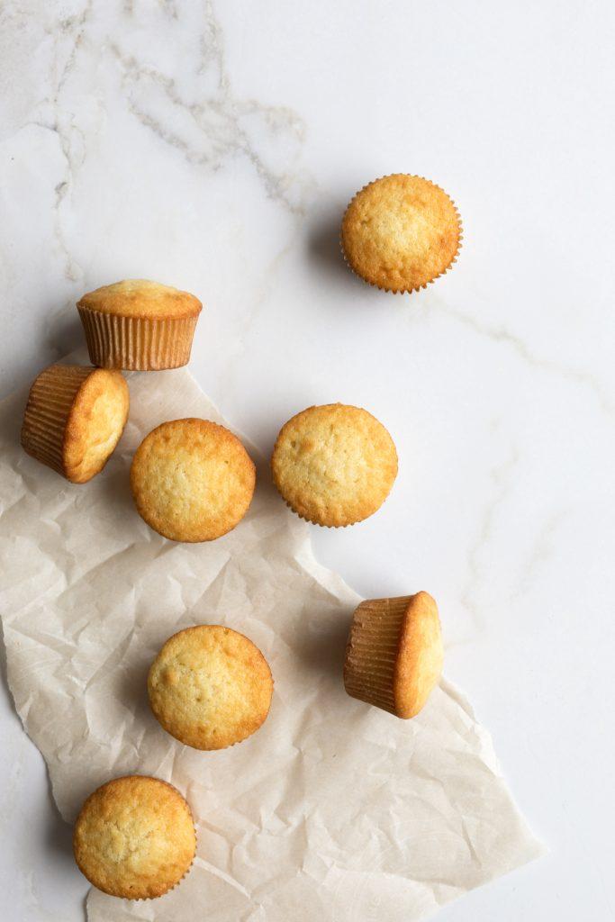 Cupcakes de base à la vanille