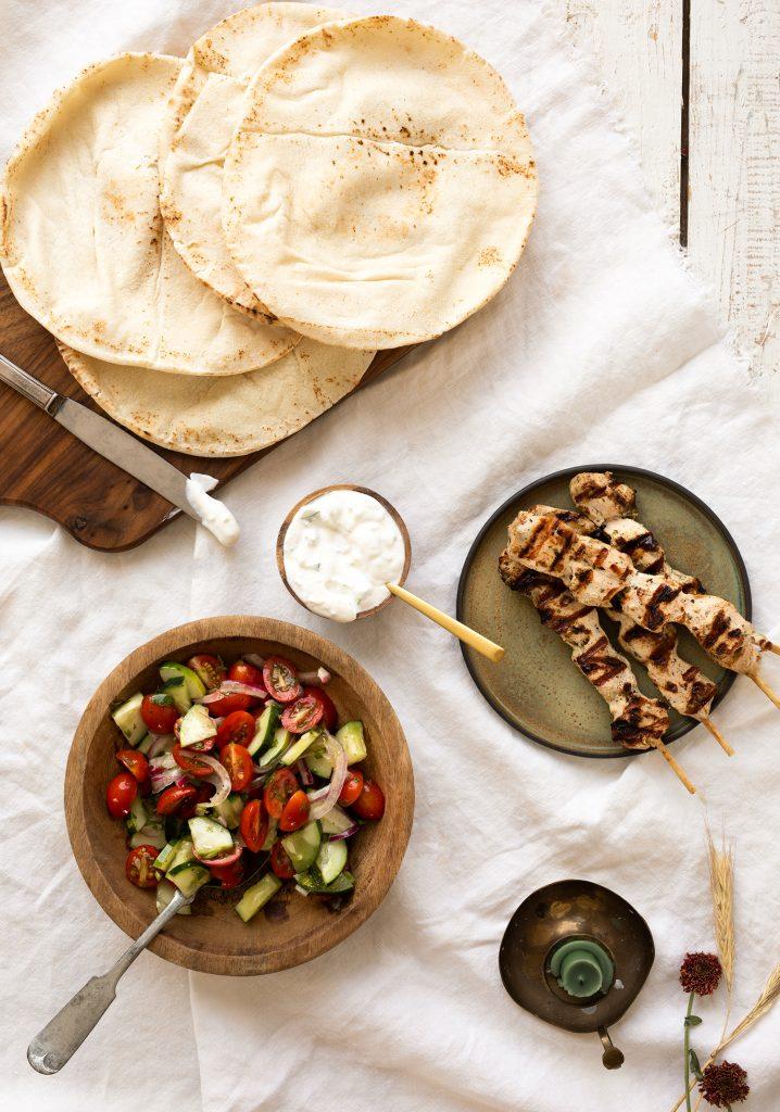 Gyros de poulet & sauce tzatziki