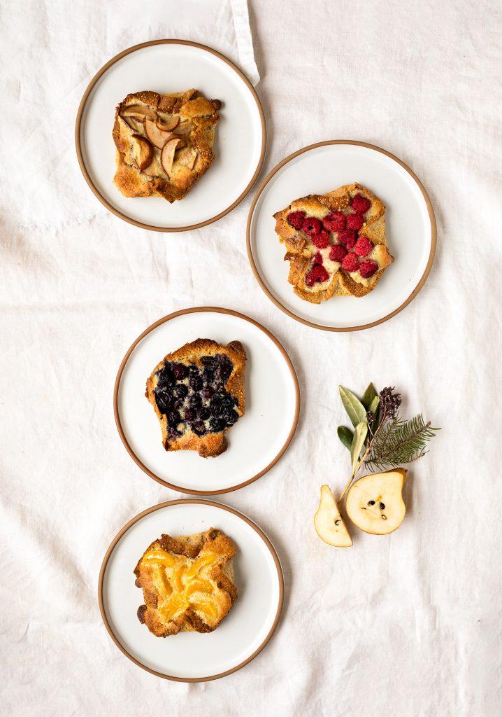 Tartines de style danoises aux fruits & aux amandes