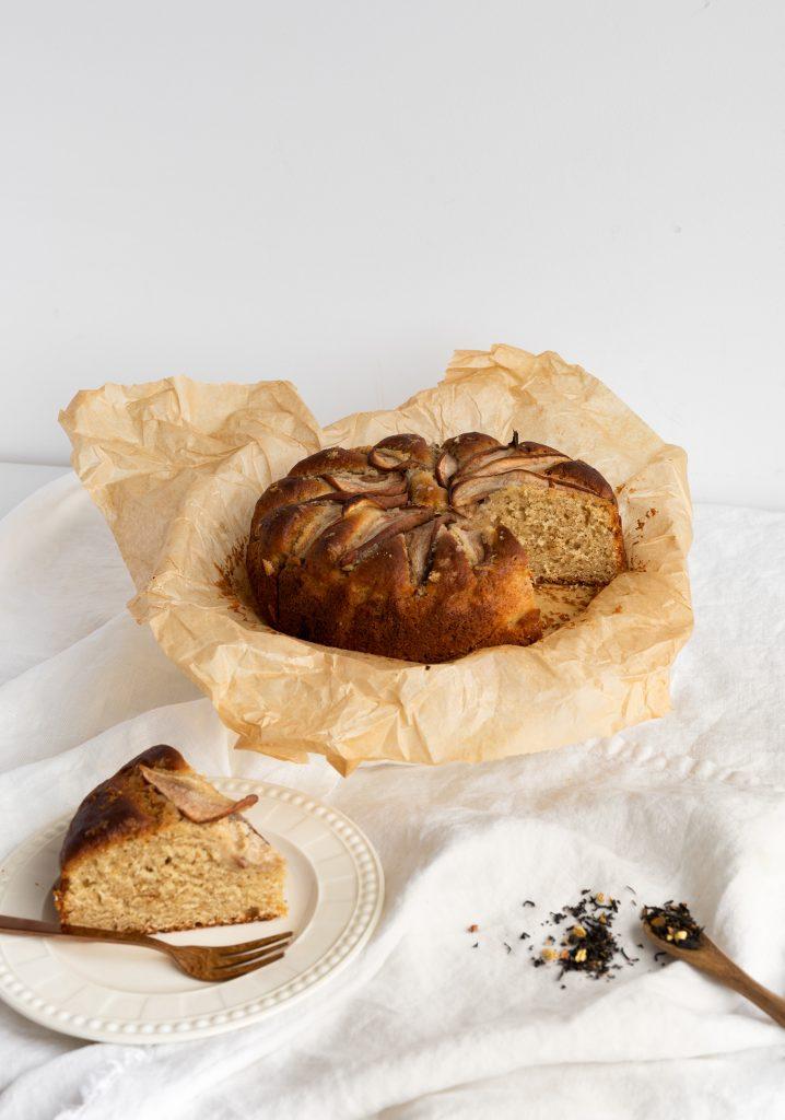 Gâteau-collation aux poires & au thé chai
