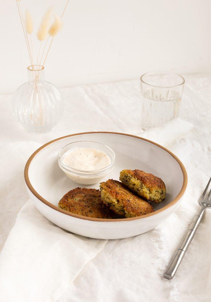 Croquettes de couscous & sauce au zaatar