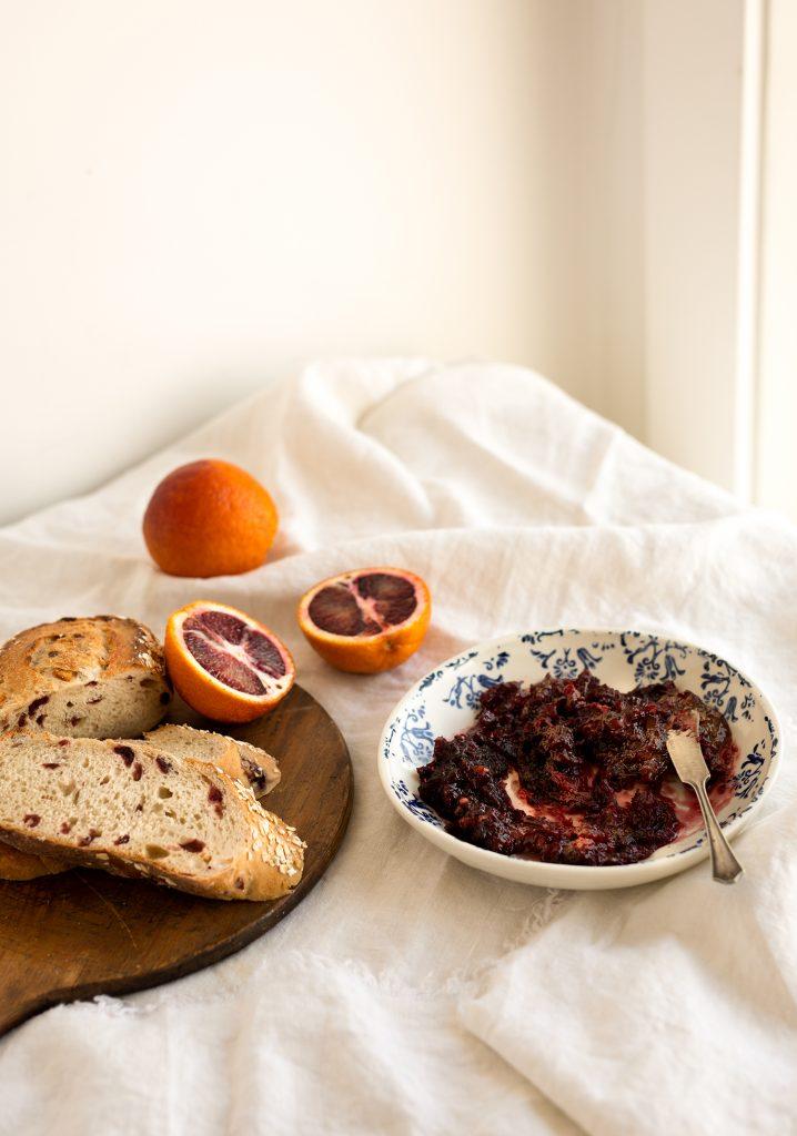 Compote d'oranges sanguines