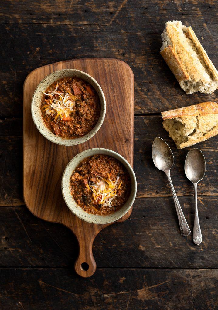 Chili de bœuf & de chorizo à la mijoteuse