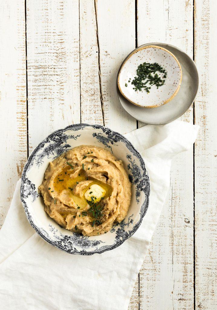 Purée de pommes de terre & de chou-fleur à la mijoteuse