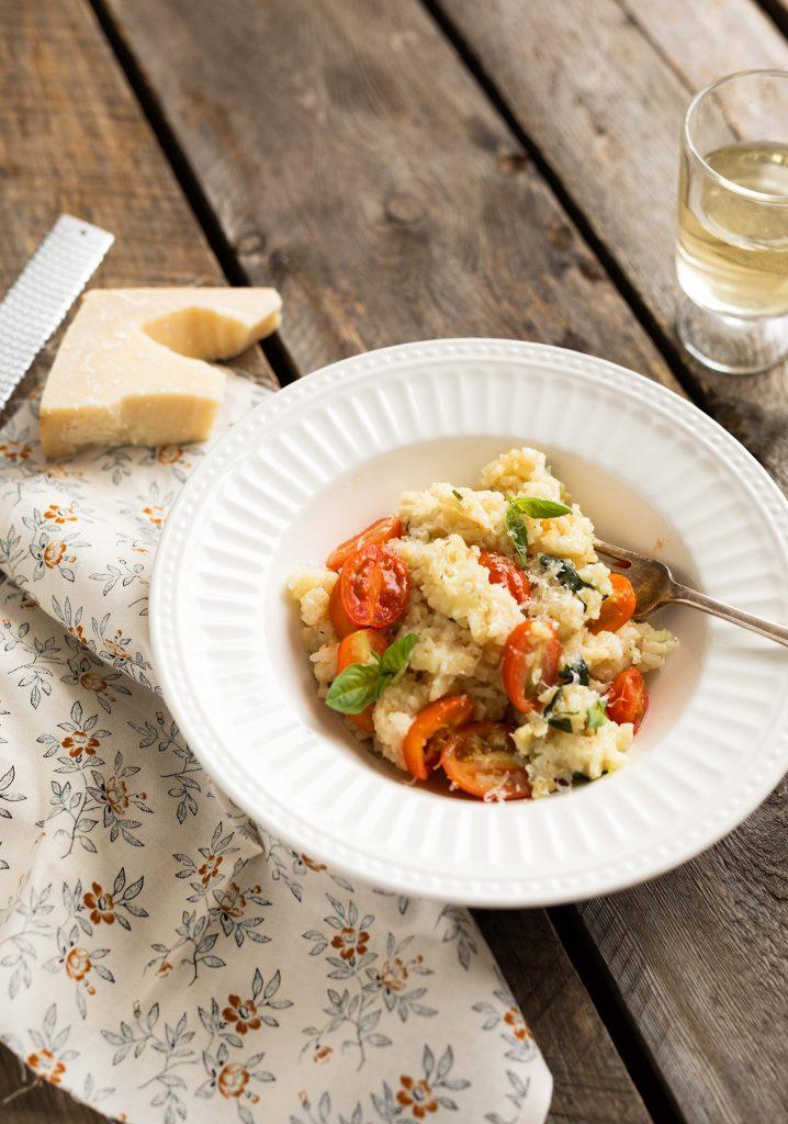 Risotto aux tomates & au basilic à la mijoteuse