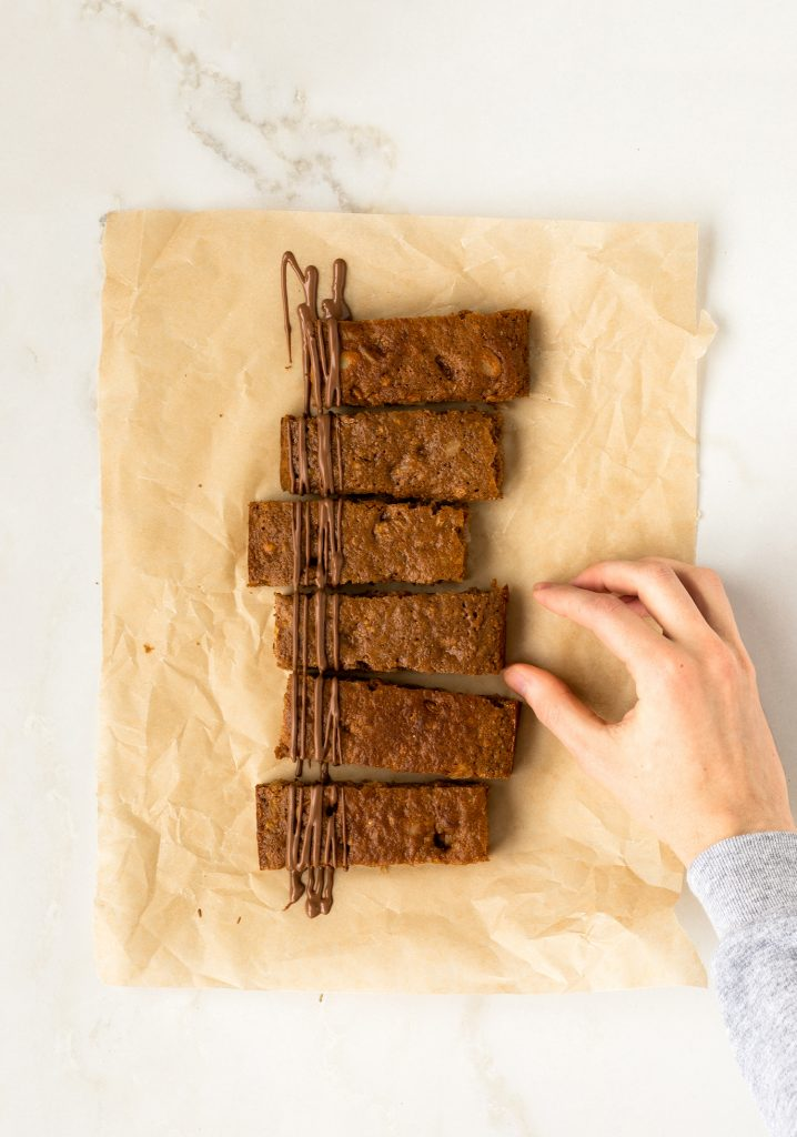 Barres-muffins au son & au lait au chocolat