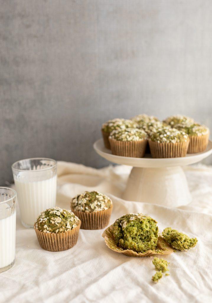 Muffins aux bananes & aux épinards