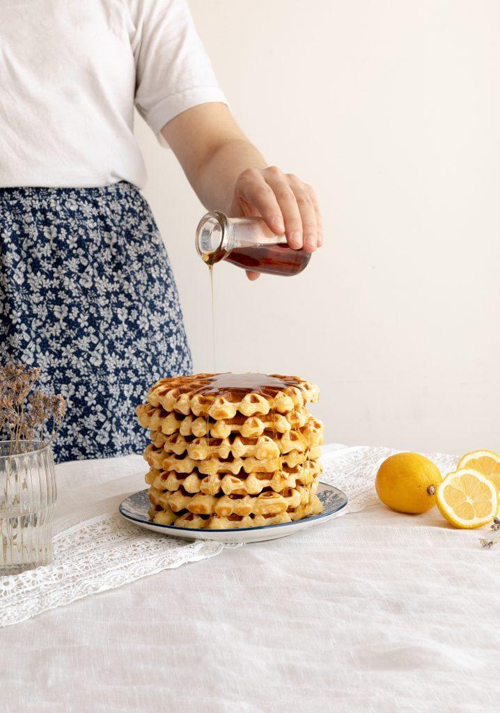 Gaufres au citron & à la crème sure