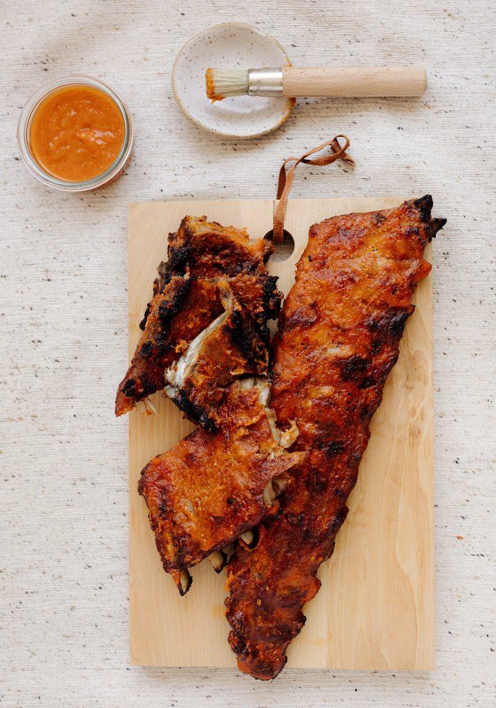 Côtes levées & sauce barbecue à la mangue