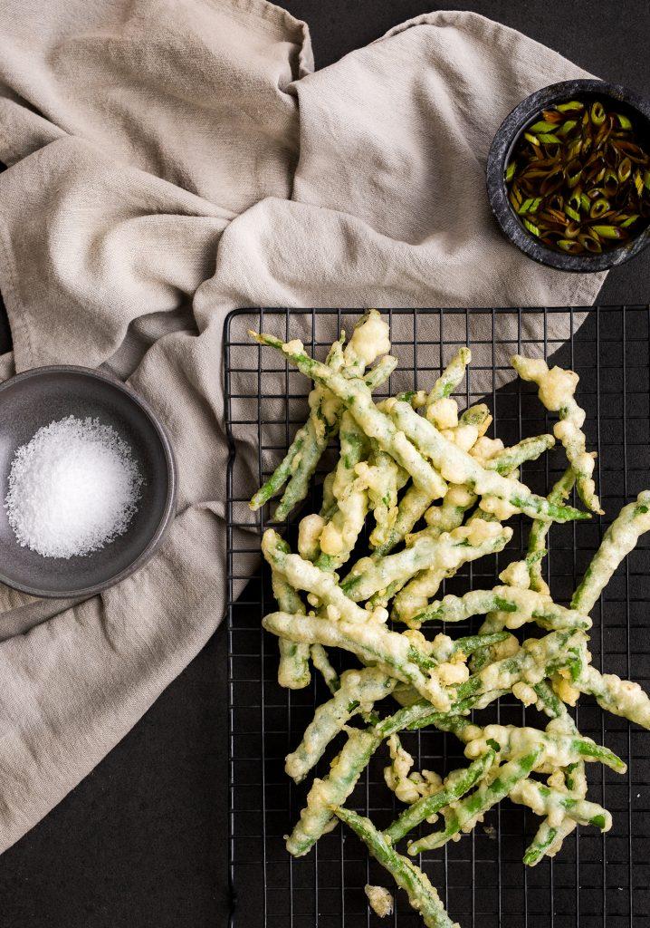 Haricots tempura & sauce ponzu